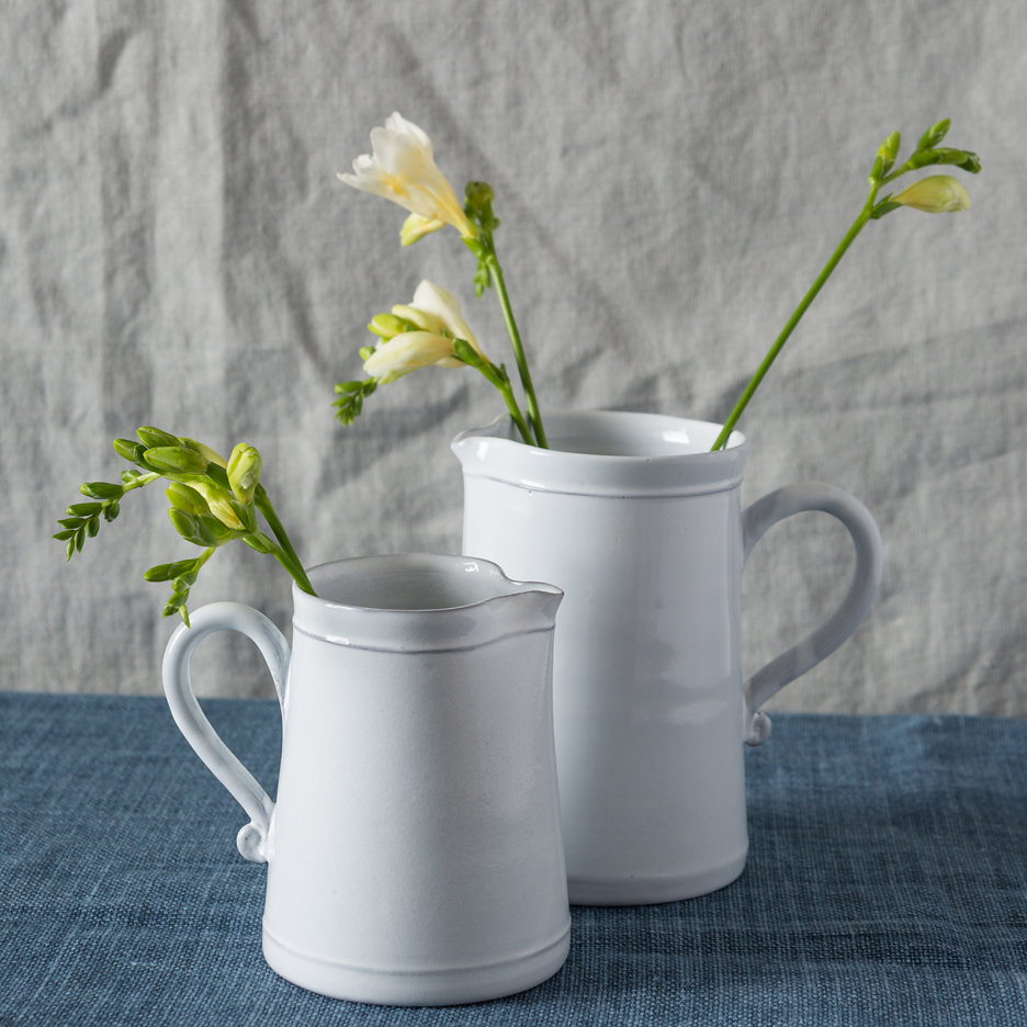 Provencal white jug french ceramics large and small