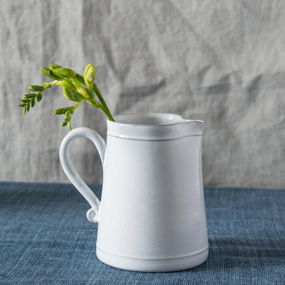Provencal white jug french ceramics small