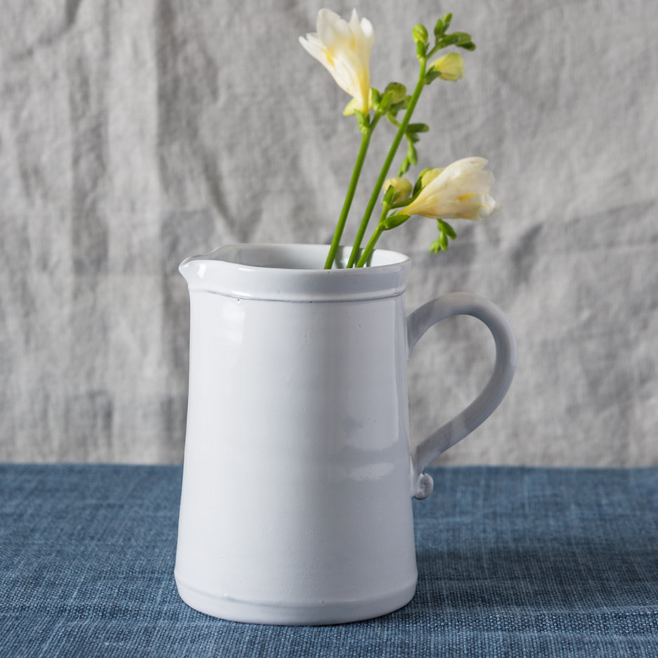 Provencal white jug french ceramics large