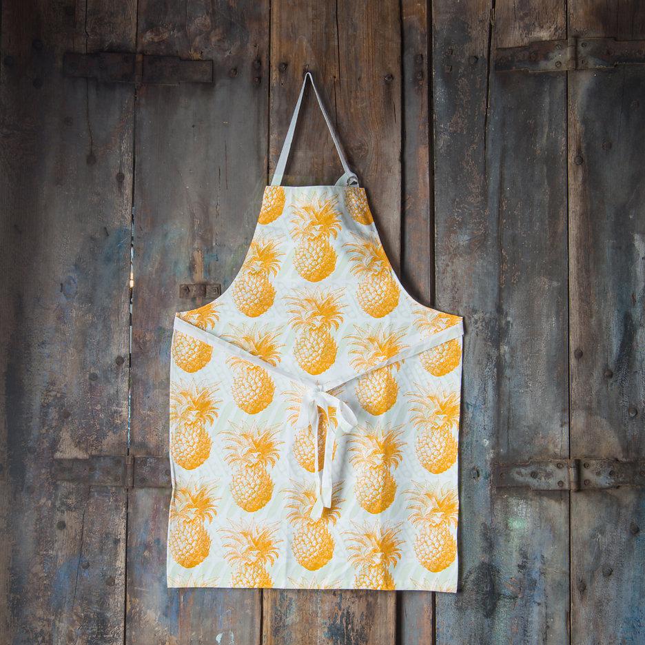 Thornback and Peel yellow pineapple apron
