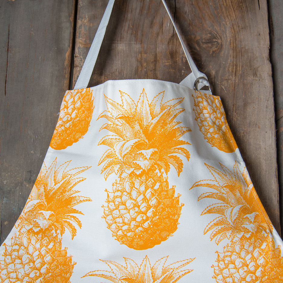 Thornback and Peel yellow pineapple apron