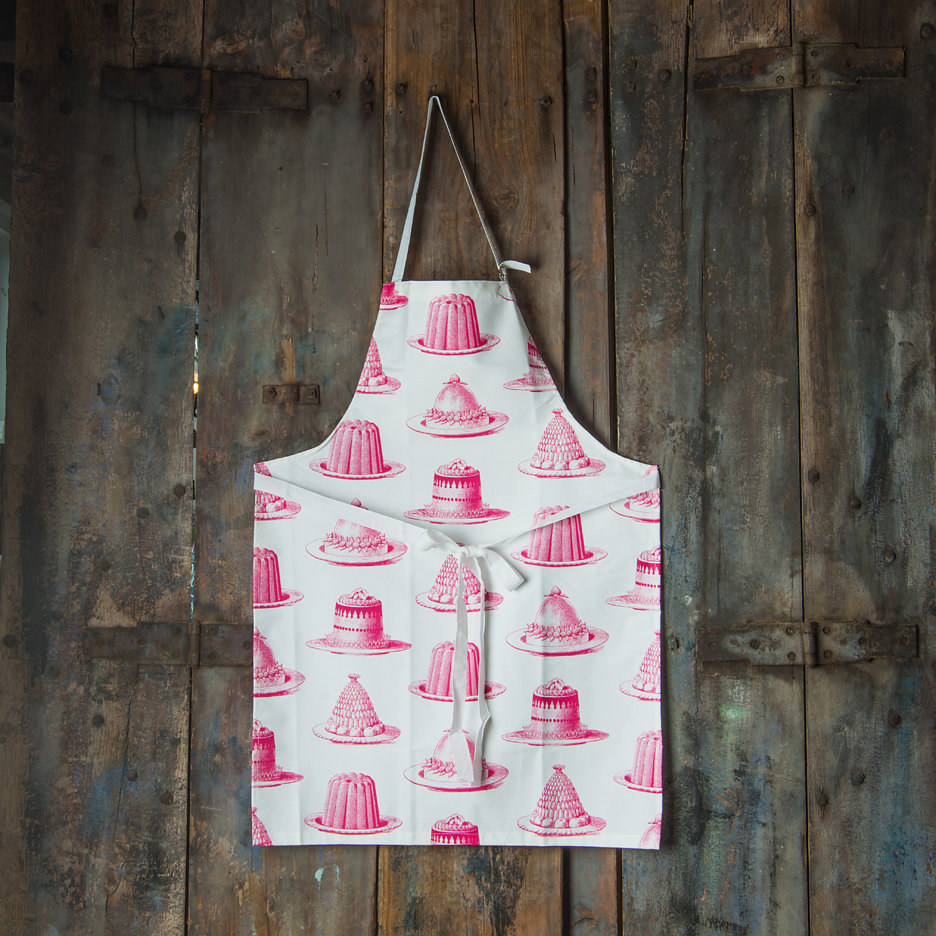 Thornback and Peel bright pink jelly apron