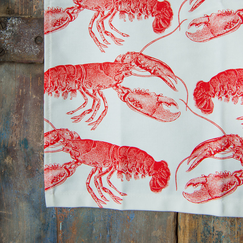 Thornback and Peel bright red lobster apron