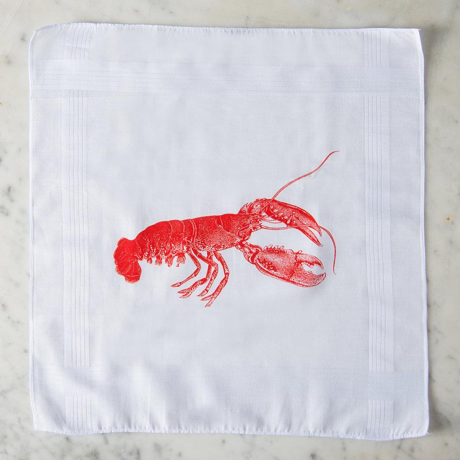 Lobster handkerchiefs Thornback & Peel