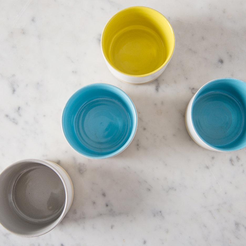 French ceramic stoneware mini serving bowls handmade