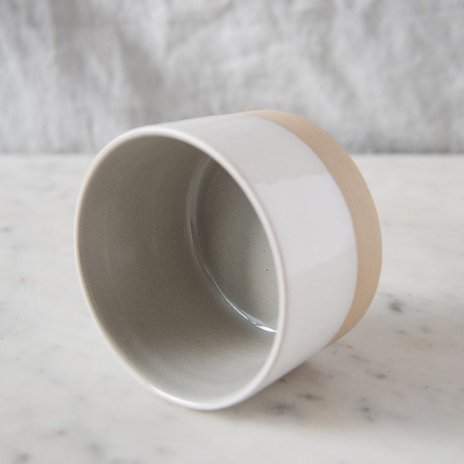 French ceramic stoneware mini bowl handmade cool grey