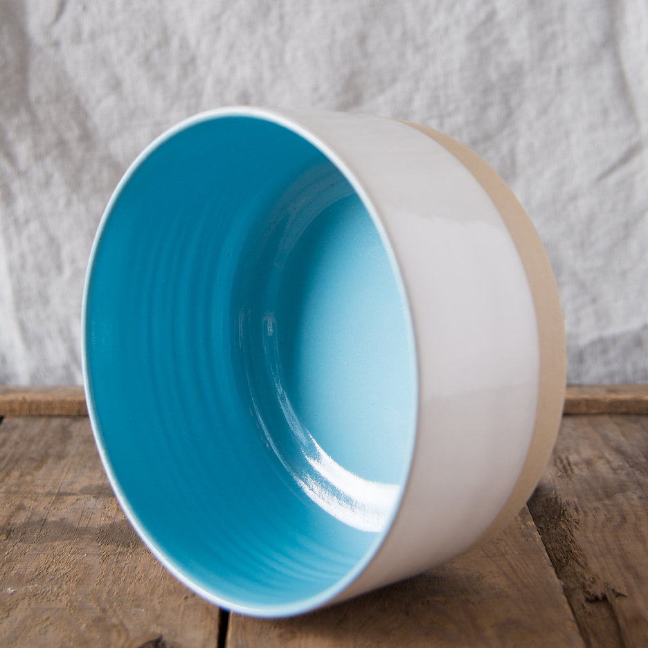 French ceramic stoneware medium serving bowls handmade