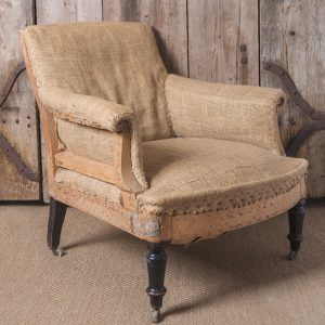 Antique French chair, unupholstered