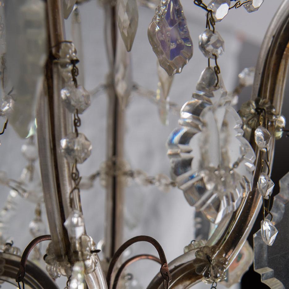Antique Italian iridescent chandelier