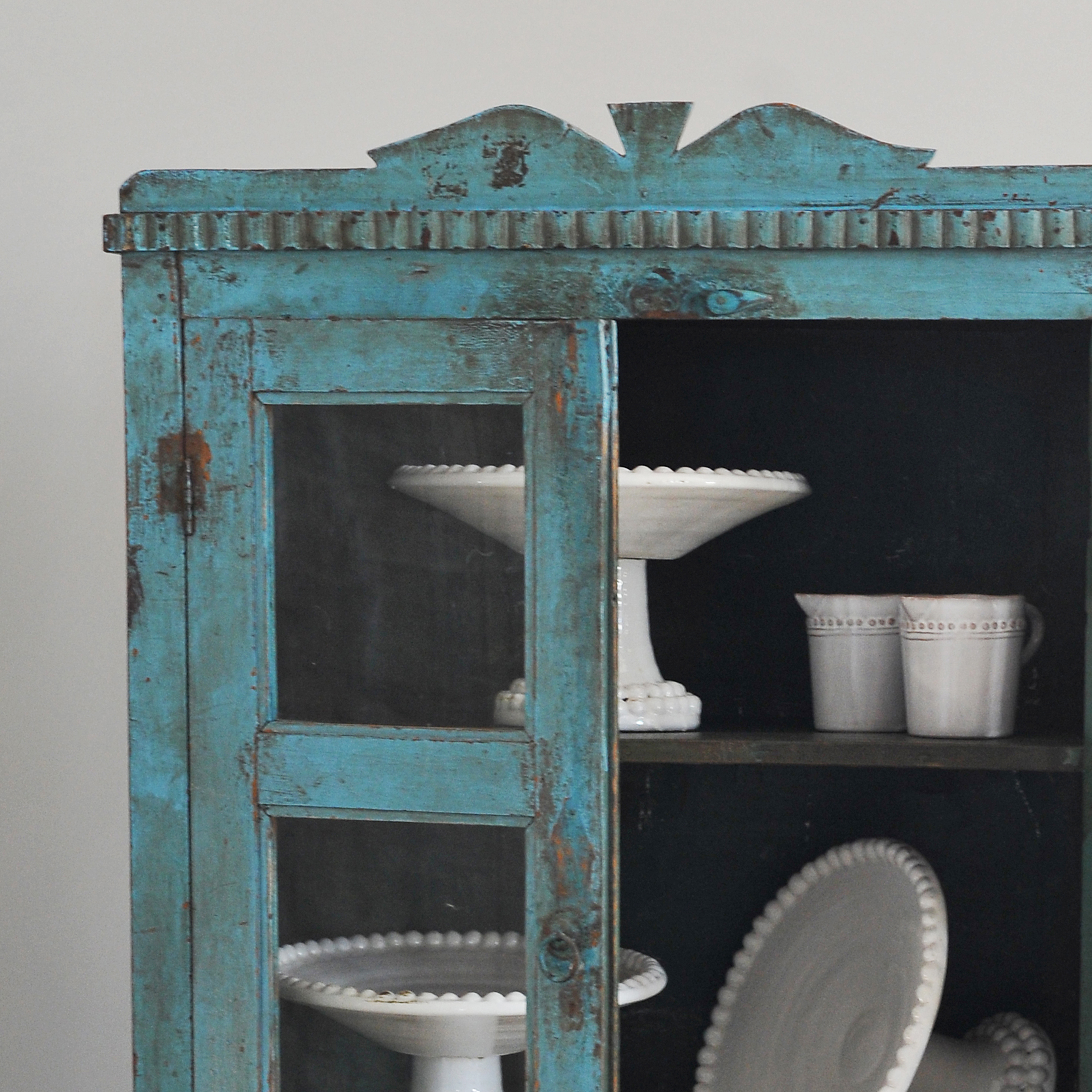 Vintage Indian Blue Cupboard