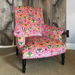 Antique French chair reupholstered in Designers Guild Issoria