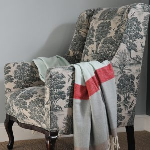 Vintage French Chair upholstered in Lewis & Wood Deer Park