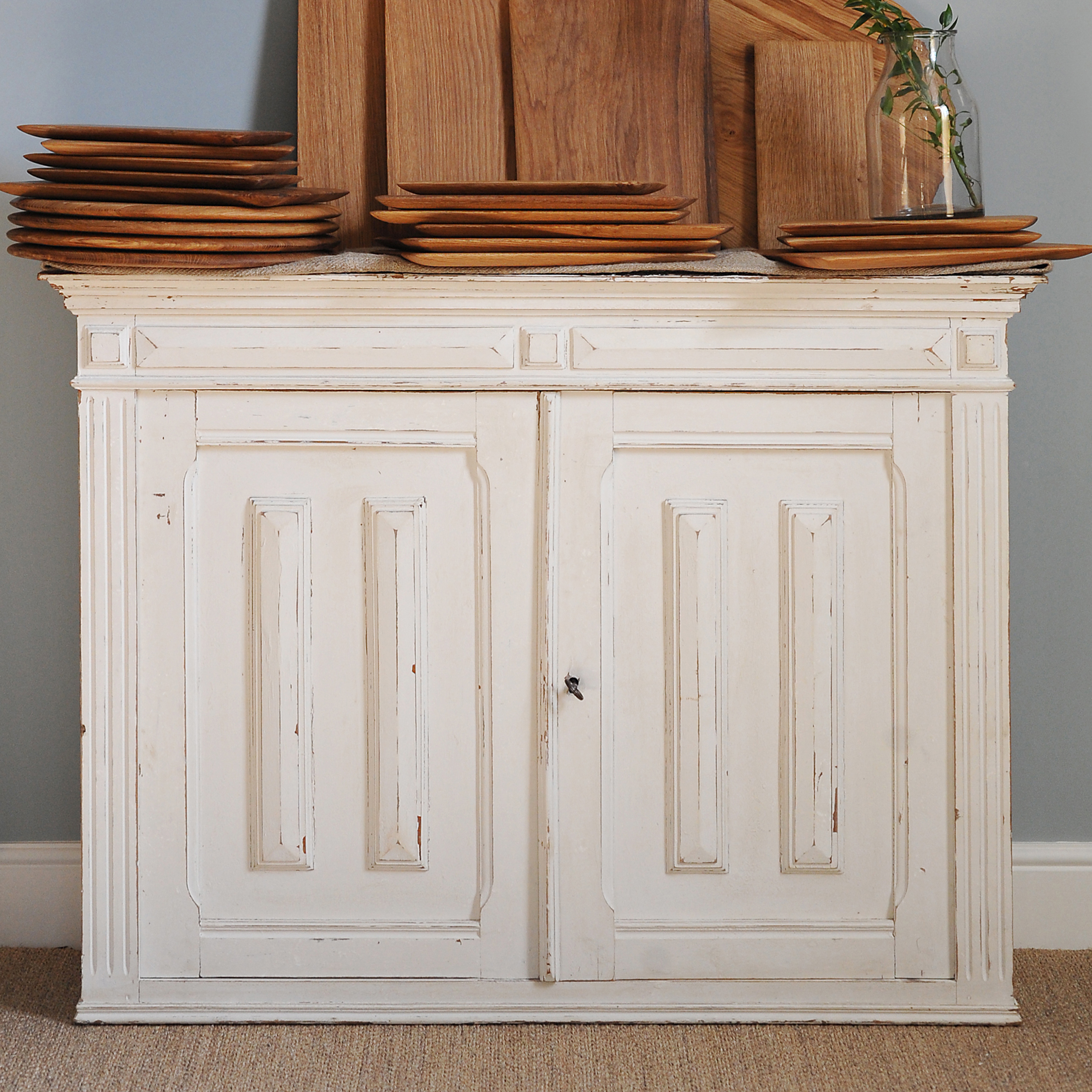 Antique French Cupboard White