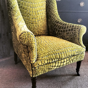 Vintage French Chair upholstered Designers Guild Nabucco