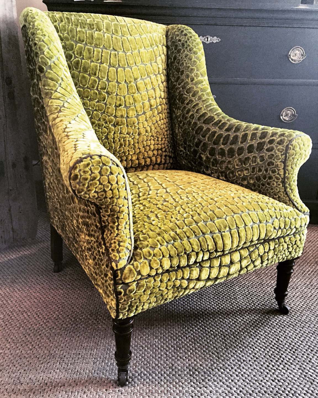 Vintage French Chair upholstered Designers Guild Nabucco